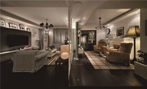温馨长方形客厅家具