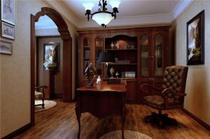 奢华欧式书桌书柜组合