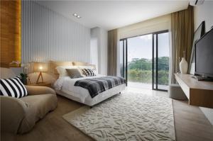新中式别墅卧室装修