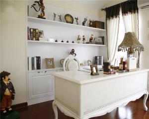 美式象牙白家用书桌