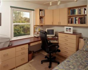 窗户转角组合书柜