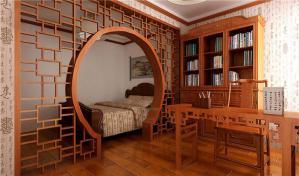 复古新中式书柜