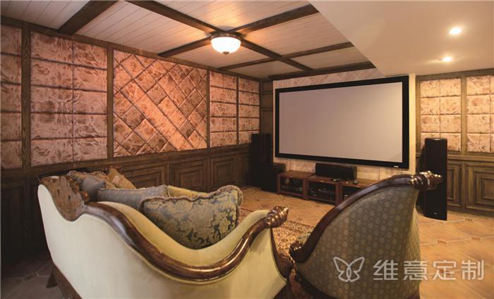 实木客厅沙发布局图片