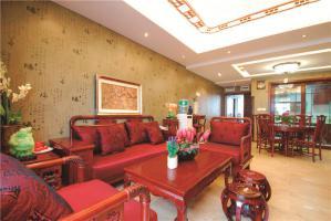 板式新中式客厅家具