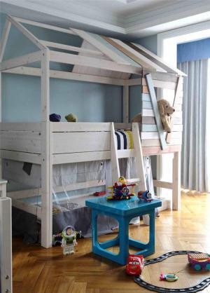 创意床儿童房装修效果图男