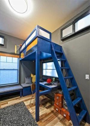 小户型卧室上下床装修效果