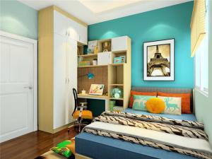 小型卧室转角书桌加衣柜