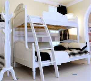 美式儿童房双层床效果图