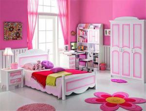 粉色儿童房设计与装修