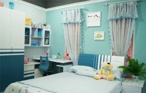 儿童房颜色样板间