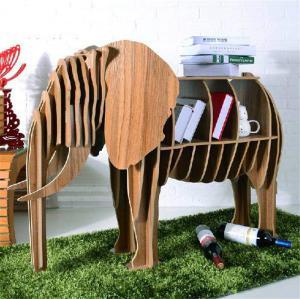 大象动物创意书柜