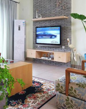 伸缩式电视柜实拍图