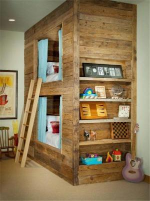 木质上下床创意儿童房