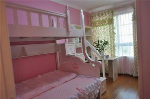 波点儿童房窗帘效果图