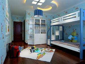 儿童房设计上下床装修