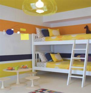 现代风儿童房颜色