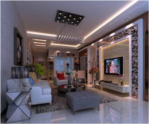 美式白色电视柜