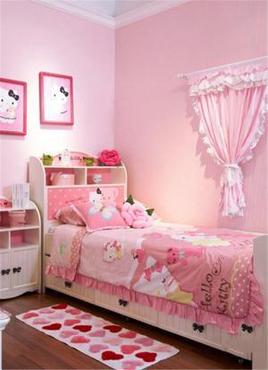 粉色美式儿童房
