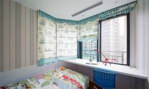 折叠儿童房窗帘效果图
