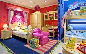 实木家具儿童房装修实例