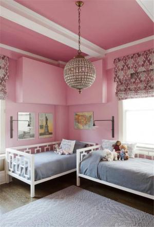 粉红儿童房颜色