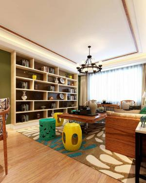小户型客厅书柜效果图