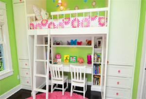 清新儿童房设计上下床