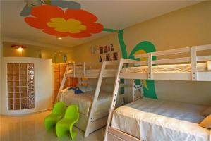 多人儿童房双层床效果图