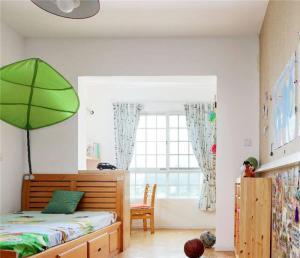 白色硅藻泥儿童房效果图
