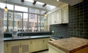家装阳台改厨房效果图