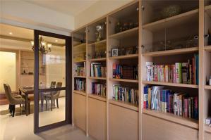 小书房书柜墙装修