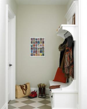 现代进门鞋柜图片