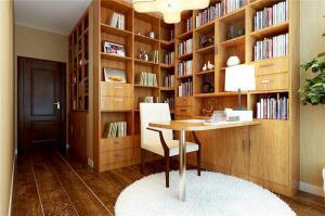 书房实木简易书柜