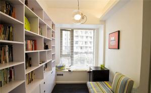 白色小书房书柜
