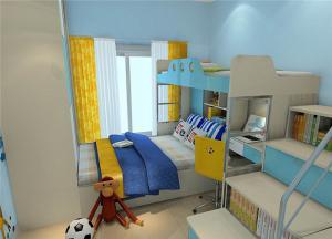 双层床榻榻米儿童房