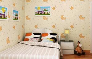 家居儿童房墙纸效果图