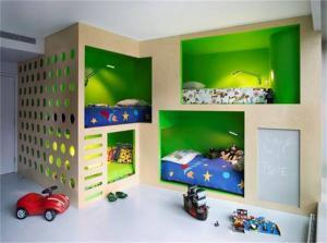 个性儿童房设计上下床