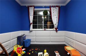 简单儿童房窗帘效果图