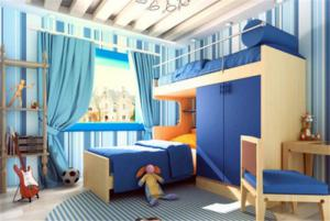 男孩儿童房家具设计