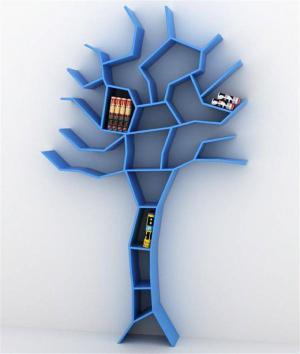 一棵树创意书柜