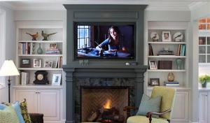 现代白色电视柜图片