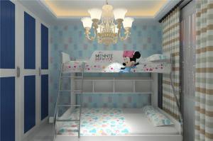 卡通卧室上下床装修效果图