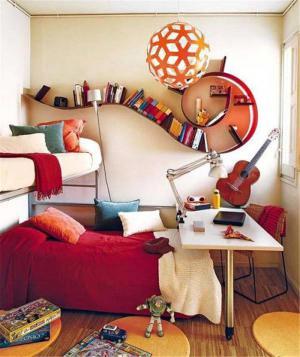 书架创意儿童房
