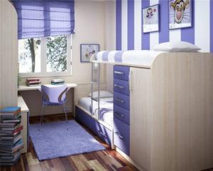 梦幻紫成人上下床