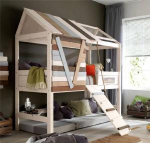 创意小房子儿童上下床