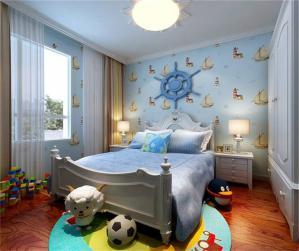 海洋风硅藻泥儿童房效果图