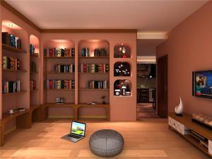创意书柜效果图