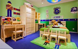 实木家具男孩儿童房