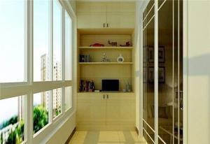 阳台改书房效果图家具设计