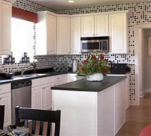 现代风格阳台改厨房效果图